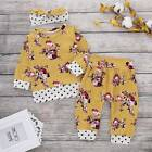 Toddler Kids Baby Girl Winter Outfit Clothes Hooded T-shirt Tops+Long Pants Set