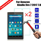 2X Real Tempered Glass Screen Protector For Amazon Kindle fire 7 2015 2017 2018