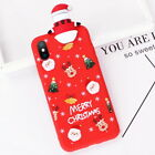 3D Christmas Santa Elk Case Cover For iPhone XS Max XR X 8 7 6 Plus Various Gift