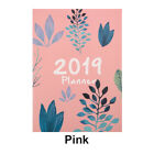 A4 Size 2019 Planner Diary Flowers Schedule Monthly Journal Study Work Notebook
