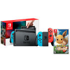 Nintendo Switch with Neon Blue and Neon Red Joy-Con + Pokemon Let&#039;s Go <br/> Authorized Nintendo Dealer - Brand New - Full Warranty