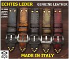 Vintage Italy Echt Leder Uhrband 18,20,22,24,mm Uhrenarmband Leather Watch Strap
