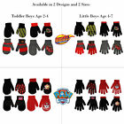 Внешний вид - Nickelodeon 4 Pair Gloves or Mittens Cold Weather Set, Little Boys, Age 2-7