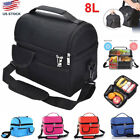 8L Large Insulated Lunch Bag Cooler Picnic Travel Food Box Women Tote Carry Bags