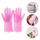 Magic Silicone Rubber Dish Washing Gloves Scrubber Cleaning Sponge Pad US Stock