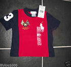 RALPH LAUREN RED NAVY BIG PONY TOP  AGE 6 MONTHS NWT
