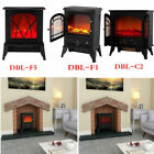 Panana Flame Effect Stove Electric Fire Heater Fireplace Standing With Pan UK