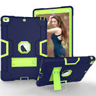 Contrast Color Tough Rubber Armor Protector Stand Case Cover For Apple iPad Air
