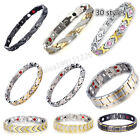 Wholesale! Men Women 316L Titanium Steel Therapy Energy Magnetic Bracelet Health image