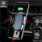 Baseus Qi Wireless Automatic Clamping Fast Car Charger Mount Holder Stand