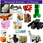 LEGO Minecraft Animals Minifigures Creeper Sheep Pig Cow Mooshroom Spider Wolf