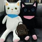 Black And White Cat Best Stuffed Plush Animals Toys Soft Cuddly Cats Doll Gift A
