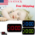 Digital Alarm Clock with Snooze Large LED Display Battery Powered Voice Control