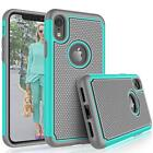 Fits iPhone XR Case Shockproof Rugged Rubber Hybrid Impact Armor Hard Cover