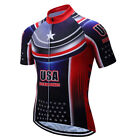 Summer Men's USA Cycling Jersey Short Seeve Shirt Bike Bicycle Clothes Clothing