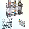 Trademark Innovations 2-Tier Wire Spice Rack Storage Organizer - Wall Mount o...