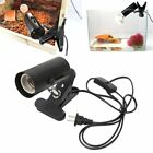 Aquarium Reptile Light Holder Clamp Ceramic Infrared Emitter Heat Lamp Stand ATW