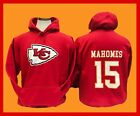 KANSAS CITY CHIEFS Hoodie RED Hooded Sweatshirt  PATRICK MAHOMES # 15 on eBay