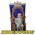CHILD'S THRONE Photo Prop CARDBOARD CUTOUT Royal Chair Prince Princess Playtime for sale  South Whitley