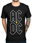 Official AC/ DC Stacked Logo T-Shirt Back In Black Album Rock Highway To Hell