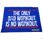 Gym Sweat Microfiber Sports Towel Jogging Funny The Only Bad Workout Is No Worko