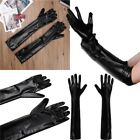 Unisex Adult Wetlook Leather Long Glove Club Party Costume Full Finger Accessory