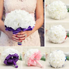 Внешний вид - Wedding Flower Rose Crystal Bouquet Bride Bridesmaid Flower Girl Wand Fine Decor