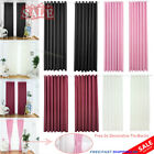 Thermal Blackout Curtains Set Ready Made Eyelet Ring Top Pencil Pleat +tie-backs