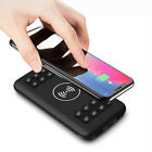 US 20000mAh Power Bank Qi Wireless Charging With Suction Cup For Samsung S9 S8