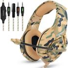 ONIKUMA K1 Camouflage PS4 Headset Bass Gaming Headphones Game Earphones Casque w