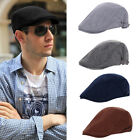 Unisex Mens Womens Solid Cotton Cap Golf Casual Driving Cabbie Beret Hat Newsboy