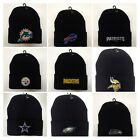 READ LISTING! NFL/MLB *Flat* Logo Heat Applied on Beanie Knit cap hat. PICK TEAM