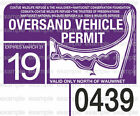 Nantucket Oversand Vehicle Permit Sticker Decal ACK Great Point 2004-2019