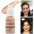 PHOERA Matte Full Coverage Liquid Foundation Makeup Conceale Powder Face Cream