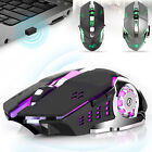 Wireless 2400 DPI Gaming Rechargeable 7 Color Backlit USB Optical Mouse Mice M70