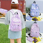 2PCS Unicorn Women School Backpack Racksack Handbag Rucksack Girls Satchel Bag
