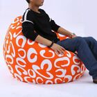Внешний вид - 1 Pcs Printed Bean Bag Lounger Sofa Cover Chairs Outdoor Pouf Puff Couch Lazy Wi