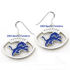 Detroit Lions Football Logo Pendant Earrings With 925 Earring Wires on eBay