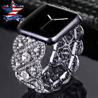 For Apple Watch Series 4 44mm 40mm Rhineston Diamond Watch Band Bracelet Strap
