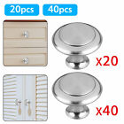 20Pcs Stainless Steel Round Kitchen Cabinet Door Handles Drawer Pulls Knobs