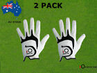 Mens Golf Gloves Right Hand Left 2 Pack Lh Rh Weathersof Grip Fit S M L ML XL AU