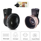 Cell phone lens HD Camera Kit Fisheye Clip +0.45x Wide Angle +15x Macro Lens