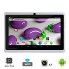 New 7'' inch Tablet PC Quad Core HD Android Dual Camera WiFi 8GB 7th Generation