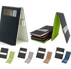 Men's Genuine Leather Money Clip Bi-fold Slim Wallet Credit card holder US ship