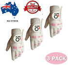 Women's Golf Gloves 3 Pack Weathersof Pro Grip Left Hand Right Lh Rh S M L XL AU