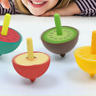 Children Classical Cartoon Fruit Shape Spinning Top Leisure Wooden Toy Gift