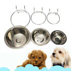 Dog Cage Cat Feeder Rabbit Easy Cleaning Pet Stainless Steel Bolt Bowl Hook On