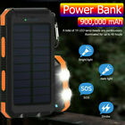 300000mAh Dual USB Pocket-sized Solar Battery Charger Solar Power Bank For Phone NEW