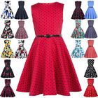 Vintage Children Girls Dress 50s 60s Style Floral Swing Party Bridesmaid Dress
