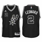 KAWHI LEONARD NBA ADIDAS SAN ANTONIO SPURS SWINGMAN ALTERNATE JERSEY BLACK 110